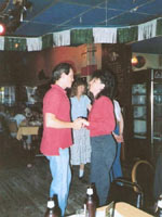 Couple dancing at the Clog Palace, circa 1989