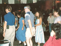 Crowded dance floor at the Clog Palace, circa 1989