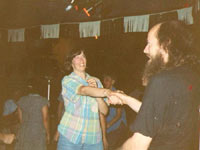 J. C. Miller dancing with his sister, Pat Langner, circa 1989